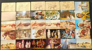Lot of 30 Native American / Western Postcards