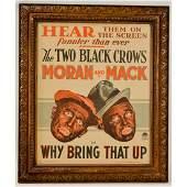 Framed 2 Black Crows Moran And Mack Ad