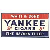 Vintage Yankee 5 Cent Cigar Sign Poster