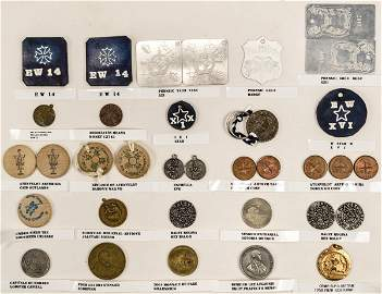 Lot of 25 Foreign Coins / Pendants / Tokens