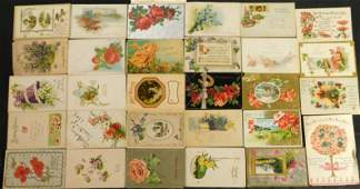 Lot of 30 Vintage Birthday Post Cards
