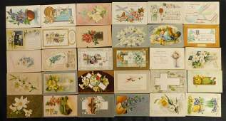 Lot of 30 Vintage Easter Post Cards