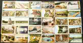 Lot of 30 Vintage Yellowstone Park Postcards