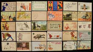Lot Of 30 Pre-1920 Joke Vintage Postcards