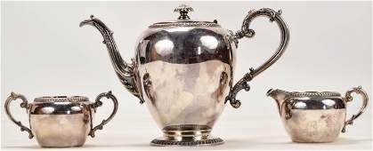 Reed  Barton Buckingham Teapot and Cups