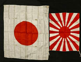 Lot of 2 Japanese Flags