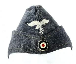 WWII German Luftwaffe Enlisted Overseas Cap
