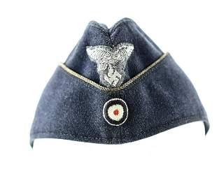 WWII German Luftwaffe Officer Overseas Cap