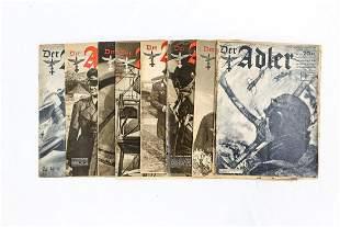 WWII German Der Adler Magazine Lot