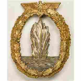 German WWII Navy Mine Sweeper Badge