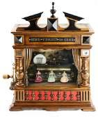 Swiss Railway Station Coin-Op Automaton Music Box