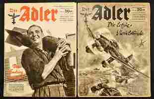 WWII German Der Adler Magazines (2)