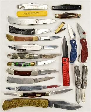 Box Lot 20 Pocket Knives