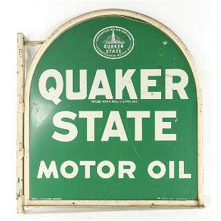 Quaker State Motor Oil Double Sided Sign