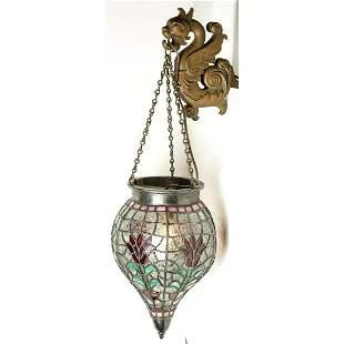 Apothecary, Soda Fountain Lead Glass Hanging Globe