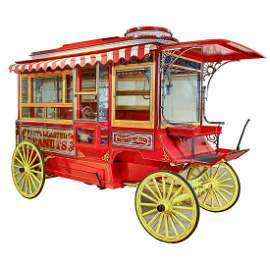 Cretors Horse Drawn Popcorn Wagon