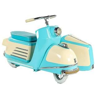 BREDA Amusement Kiddie Ride Scooter w/ Sidecar