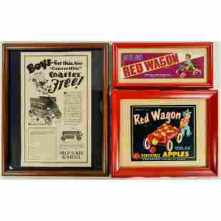 Coaster, Red Wagon Framed Advertising (3)