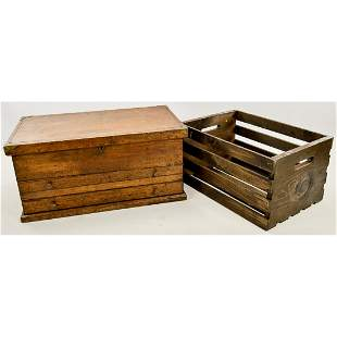 Wooden Crate and Tool Chest