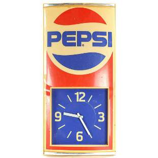 Pepsi 1989 Electric Advertising Clock