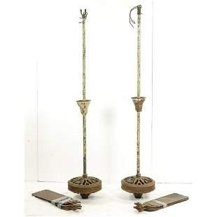 Two Antique Hunter Turek Type C Ceiling Fans
