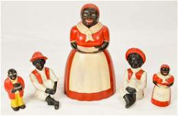 Black Americana Cookie Jar, S&P Shakers, CI Banks
