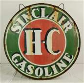 "Sinclair Gasoline Sign Double Sided Porcelain 48"""