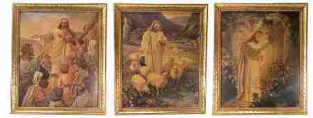Lot of Three Religious Prints
