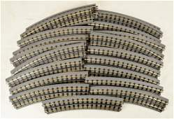 Lot of 20 M.T.H. Curved Tracks