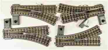 Lot of 4 M.T.H Switch Tracks
