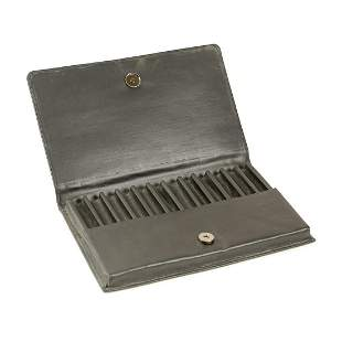 Christof 12 Pen Leather Travel Case - Qty 2