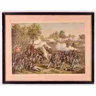 Battle of Wilson's Creek Framed Lithograph