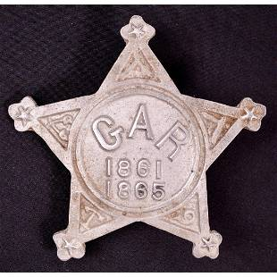 GAR 1861-1865 Civil War Grave Marker Star