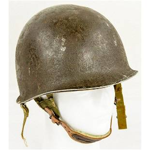 WWII US M1 Helmet with Fixed Bales