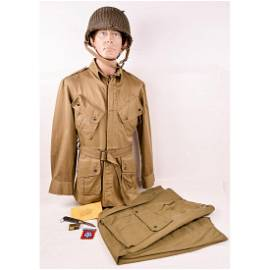WWII US Paratrooper Uniform and Items