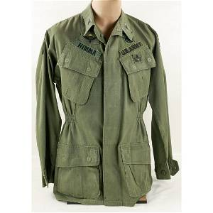 COL HIMMA NAMED PARATROOPER AIRBORNE JACKET&PAPERS