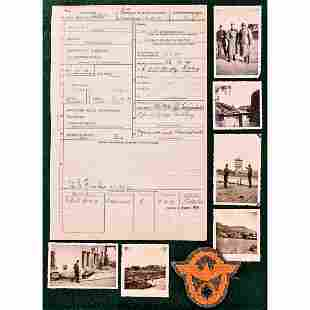 WWII German Military Police Photo Grouping