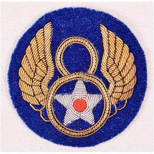 WWII US 8th Army Air Force Bullion Patch