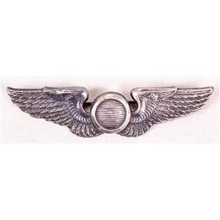 WWII US Pilot Observer Wing Badge - British Made