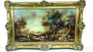 La Ghezze Framed Oil Painting on Canvas