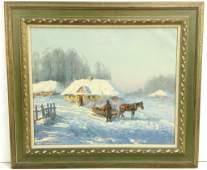 Wiktor Korecki Framed Oil Painting on Canvas