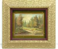 WA Carson Old Antique Oil Painting on Canvas