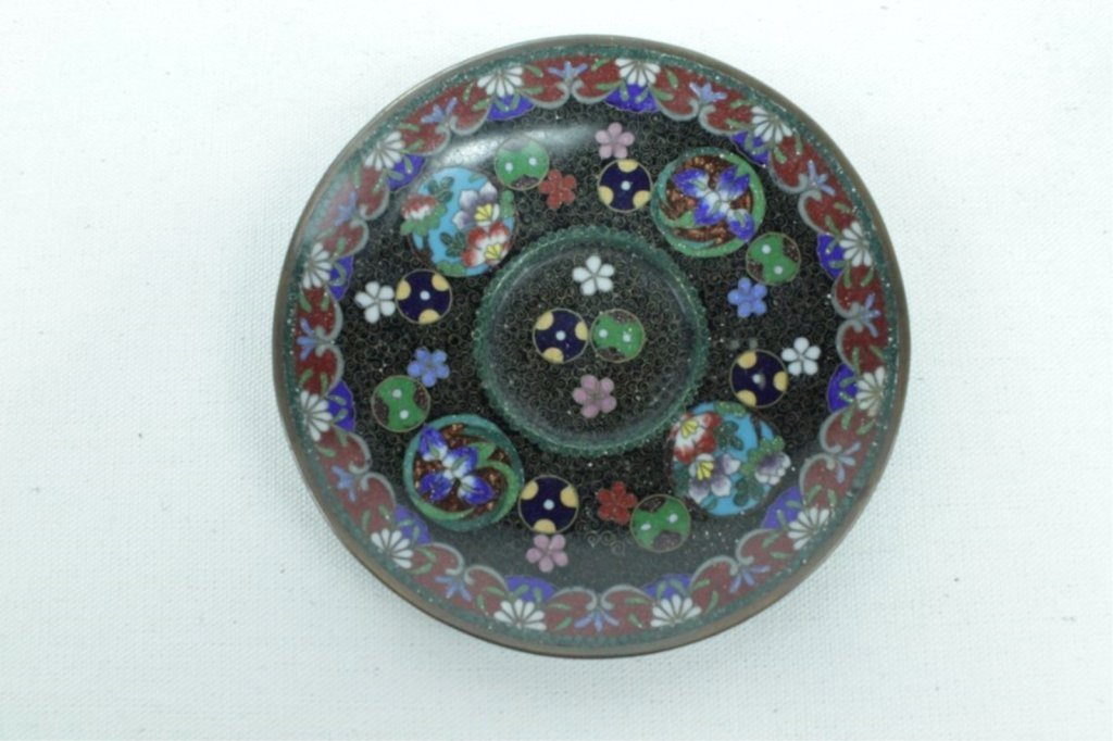 3 Pieces Of Late 20th Century Asian Cloisonne - 2