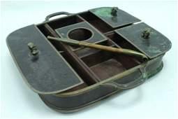 Antique Chinese Bronze Cloisonne Opium Set