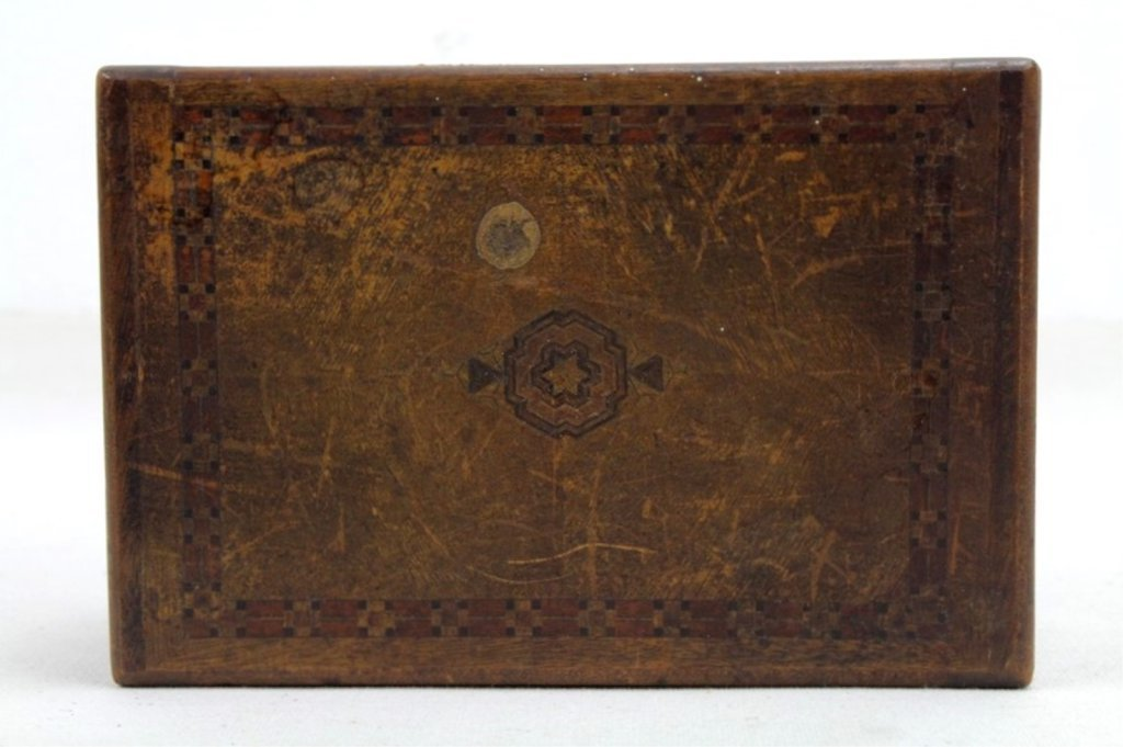 2 Two Antique Inlaid Wood Puzzle Boxes - 10