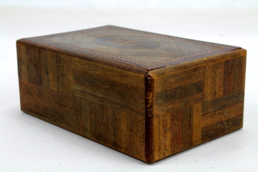 2 Two Antique Inlaid Wood Puzzle Boxes - 2