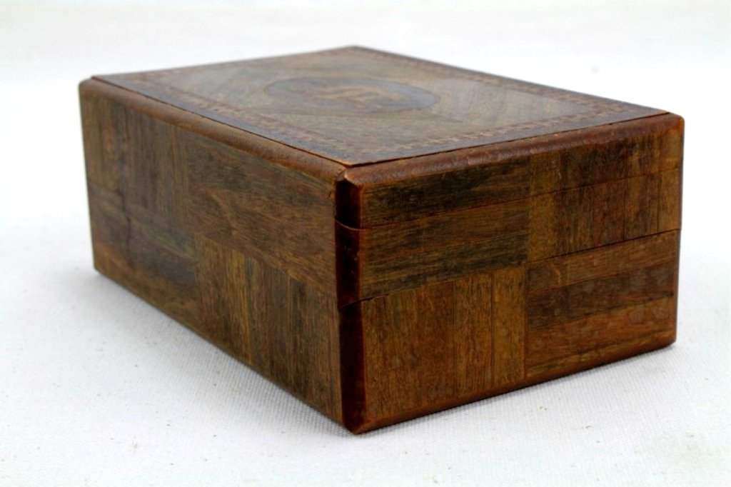 2 Two Antique Inlaid Wood Puzzle Boxes - 4