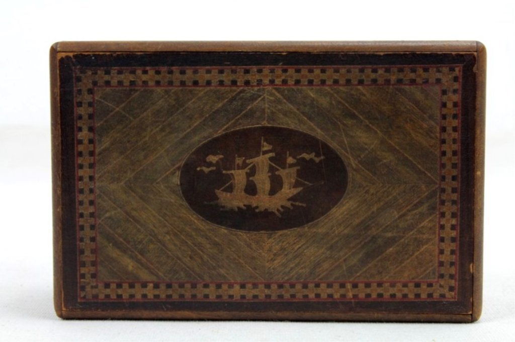2 Two Antique Inlaid Wood Puzzle Boxes - 5