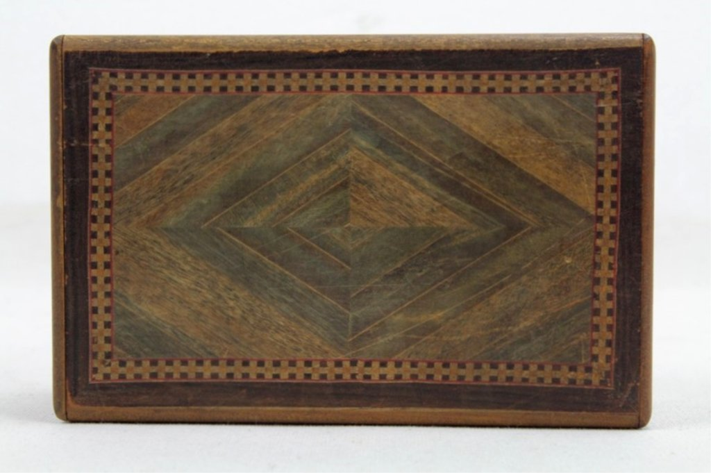 2 Two Antique Inlaid Wood Puzzle Boxes - 6