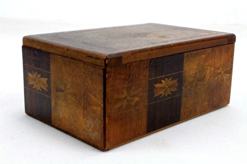2 Two Antique Inlaid Wood Puzzle Boxes - 8